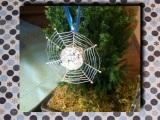 Silbern glänzen die Spinnennetz-Sterne