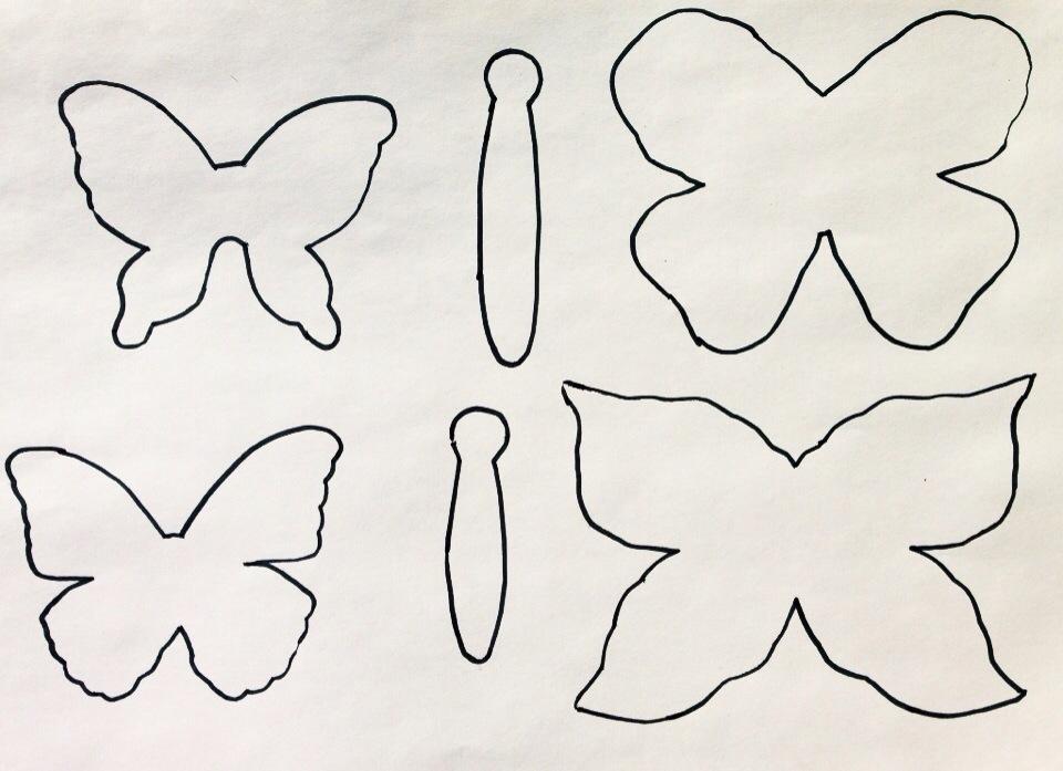 Diy paper butterflies oder jede menge schmetterlinge - Schmetterlinge zum ausdrucken fur die wand ...