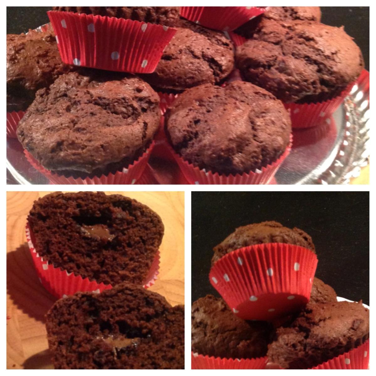 schoko muffins mit nusspli kern oder manchmal muss es schokolade sein. Black Bedroom Furniture Sets. Home Design Ideas