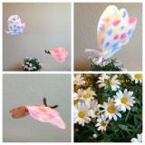 Aquarell mit Filtertüte und Eierfarben – oder – Wie schon kleine Menschen Schmetterlinge bastelnkönnen