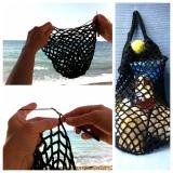 Crochet by the sea – oder – Sand, Meer und einNetz