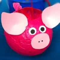 Laterne, Laterne, Sonne, Mond und....Schweinchen - oder - Wie aus einem Luftballon Mr. Pig wird