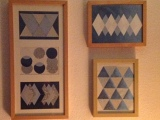 Geometrie in Eisfarben – oder – Musterhaft gerahmt: Glitteringpaper
