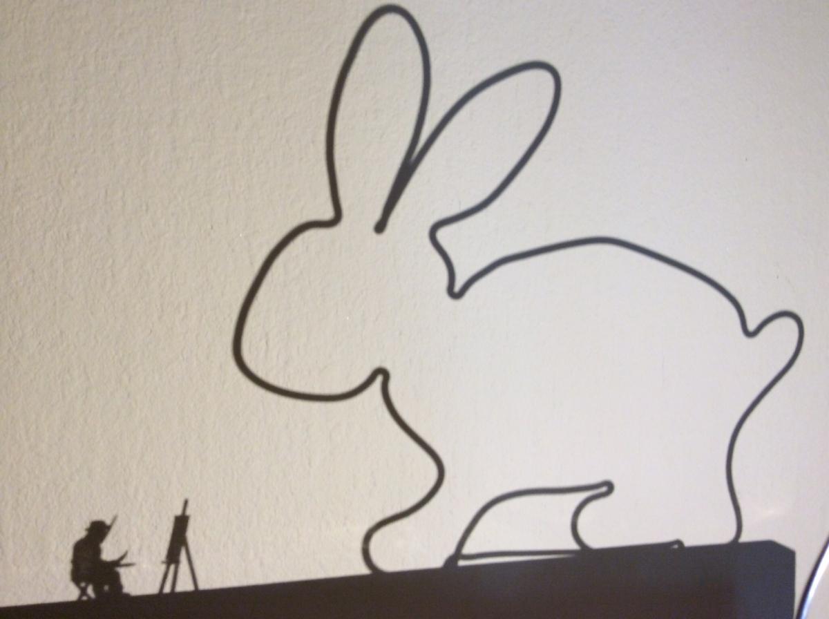 Dieser Hase ist auf Draht - oder - My first Easter bunny