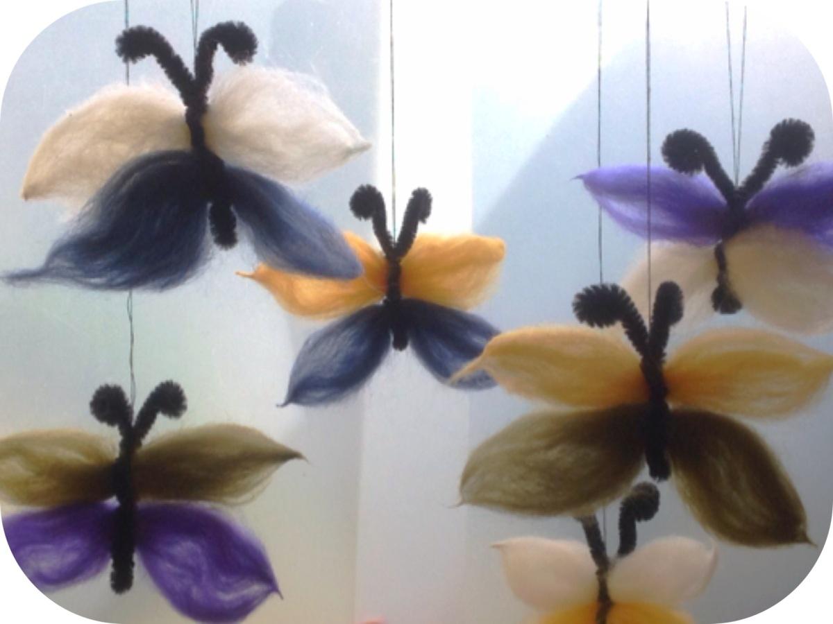 Märchenhafte Schmetterlinge - oder - Schmetterlinge aus Märchenwolle