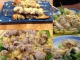 Aufgespiesst, aber gar nicht spießig, dieser Geflügelsalat – oder – Chicken-Salad a'laChina