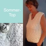 Ein Sommershirt, wie eine Schneeflocke – oder – Noch 'nen Stricktop;-)