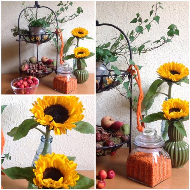 Friday-Flowerday – oder – Sonnenblumen und Früchte des Herbstes