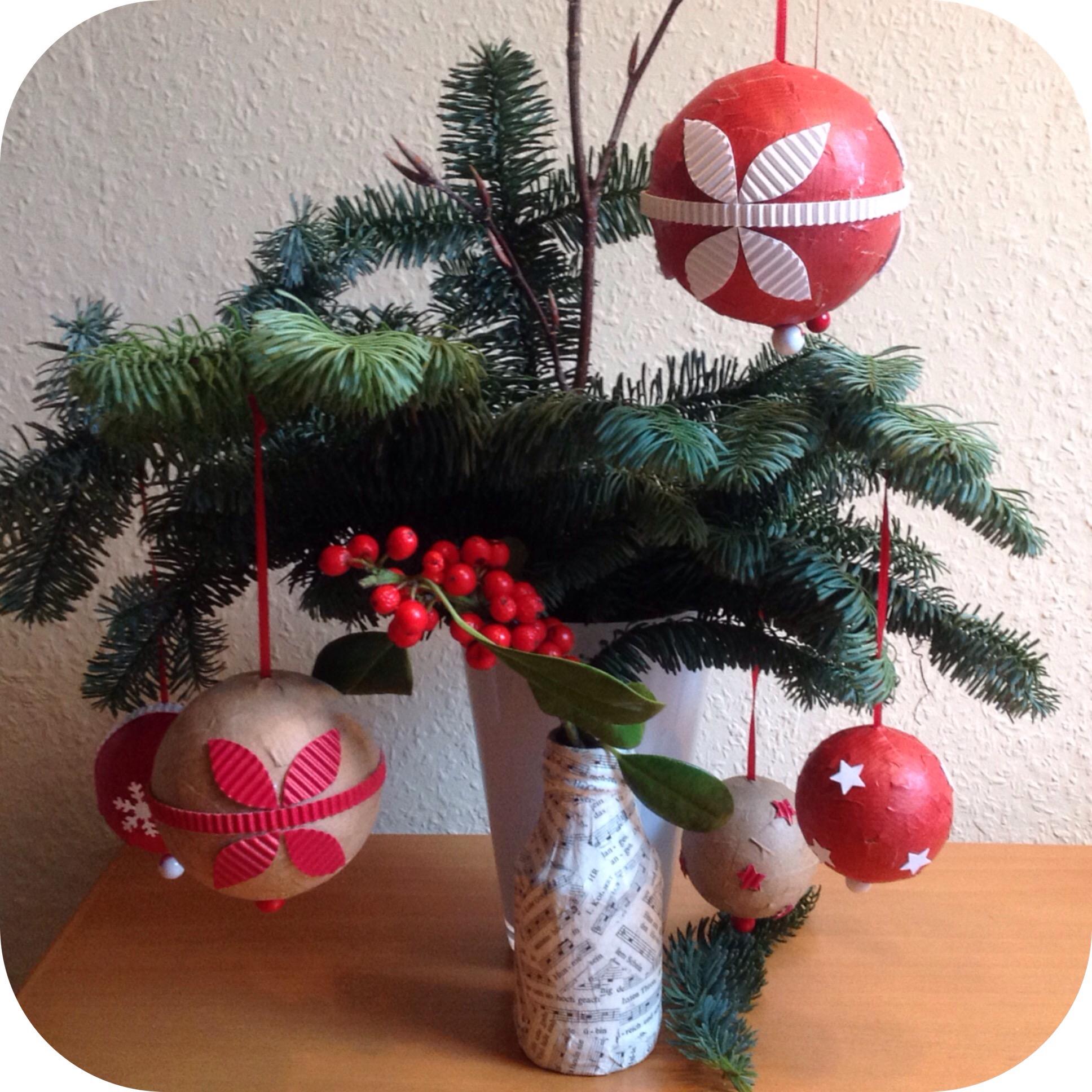 Weihnachtskugeln diy und unkaputtbar handmade kultur - Styroporkugeln dekorieren ...