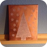 Lilamalerie im Kupferrausch - oder - Mein Kufper-Weihnachtsbaum-Gedicht