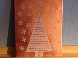 Lilamalerie im Kupferrausch – oder – Mein Kufper-Weihnachtsbaum-Gedicht