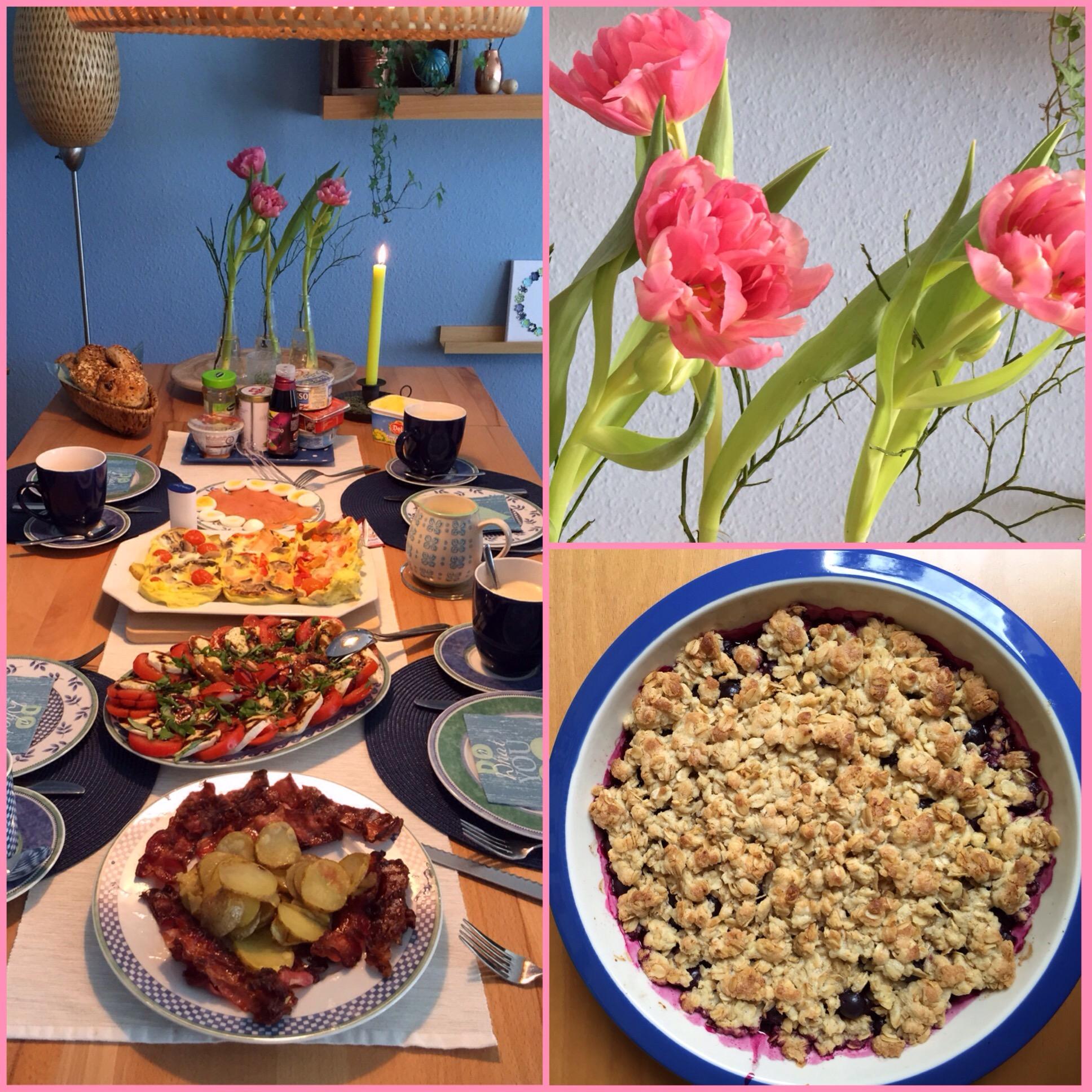 Mein Photo der Woche # 28 – oder – Brunch, Blueberry-Crumble and Tulips