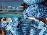 Da kommt Sommerfeeling auf – oder – Strick in Türkisblau