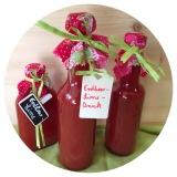 Erdbeer-Lime-Drink, fruchtig, lecker, hicks – oder – Ich bin wiederda