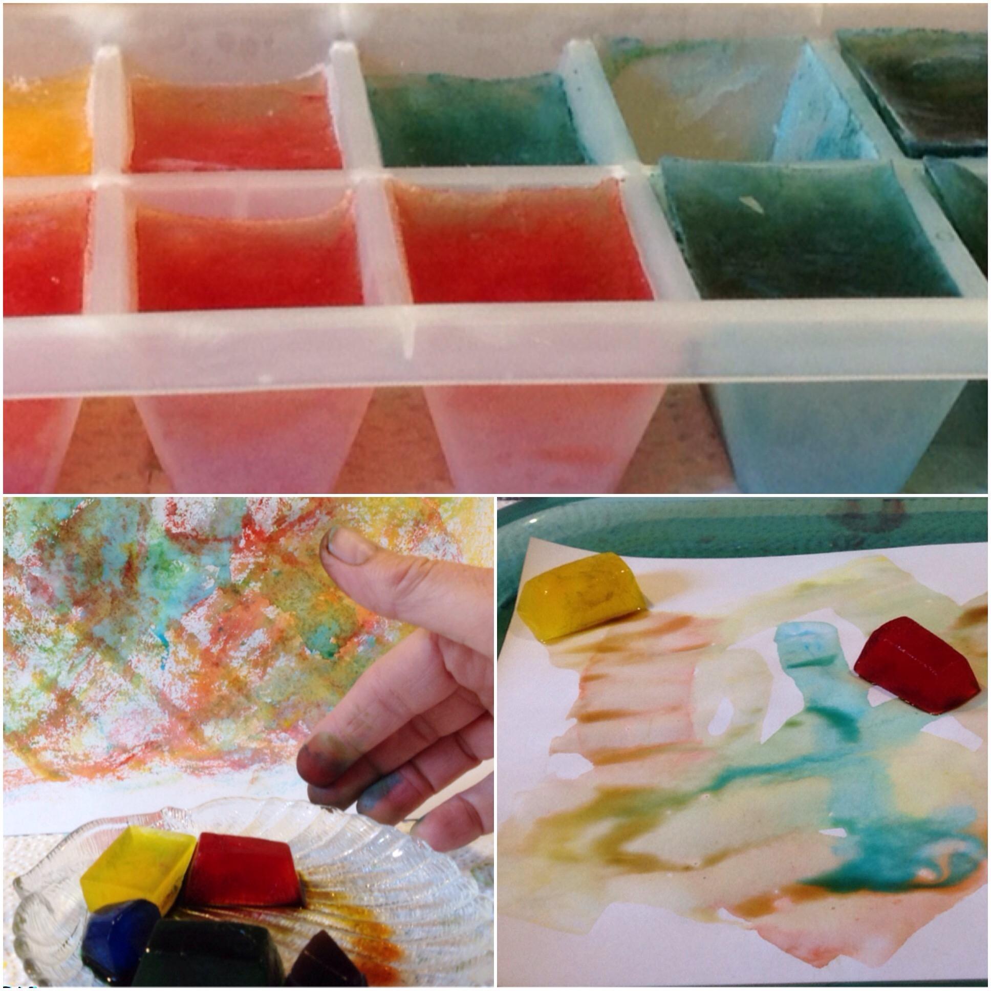 Sommer, Sonne, Eis, mal anders – oder – Malen mit Eiswürfeln
