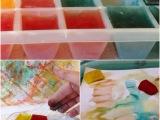 Sommer, Sonne, Eis, mal anders – oder – Malen mitEiswürfeln