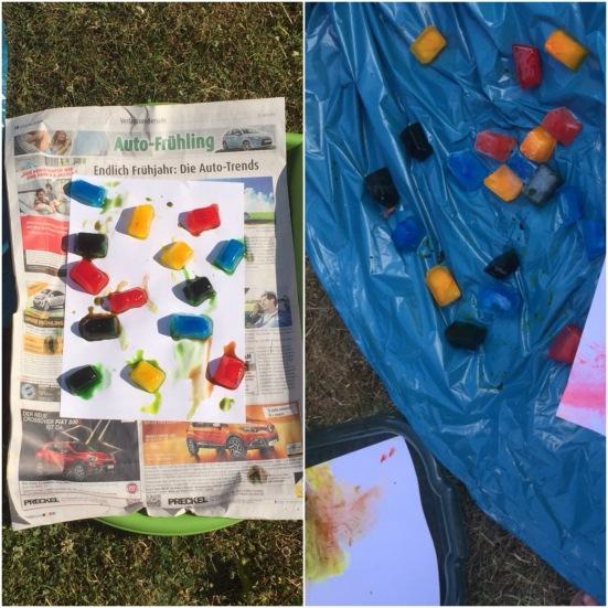 Sommer sonne eis mal anders oder malen mit for Angebote fur krippenkinder