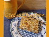 Ich back's mir im August: Streuselkuchen – oder – Aprikosenkuchen mit Walnussstreuseln