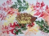 Vom stacheligen Igel und bunten Blättern – oder – Herbstliches Basteln für dieKleinsten