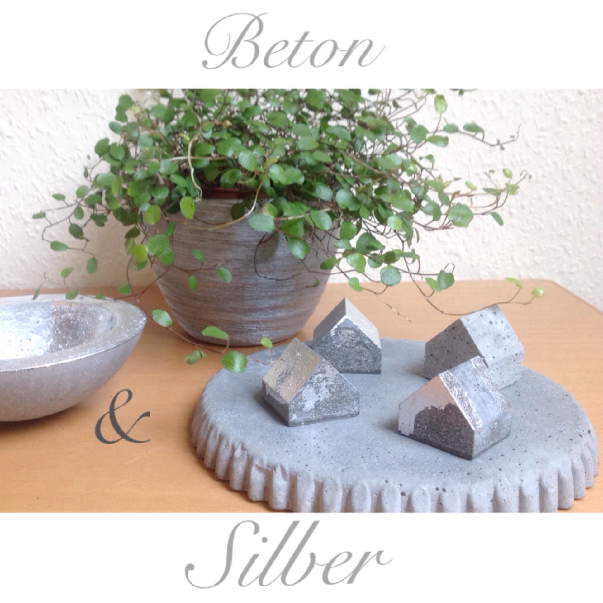 Beton & Silber – oder – So schauts aus, wenn ich Beton versilbere