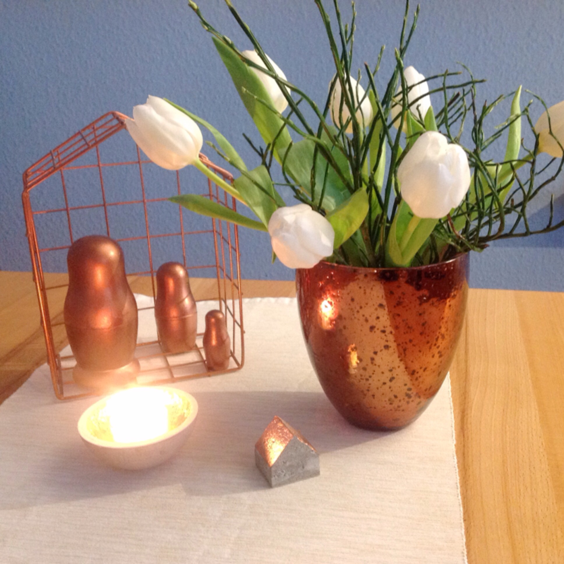 Friday-Flowerday – oder – White and Copper