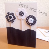 Blumen bunt oder schwarz-weiß – oder – DIY-Karten undBlumenstecker