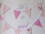 It's a girl – oder – Wimpelketten, mal genäht, malgebastelt