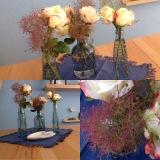 Friday-Flowerday – oder – Weiße Rosen für den griechischenAbend