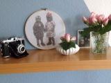 Im Stickrahmen verewigt: Hedi und Heinz -oder- Was ich mit meinem Lavendeldruck-Bild gemachthabe