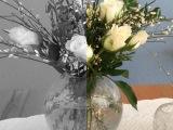 Friday-Flowerday – oder – Pistaziengrün undRosenweiß