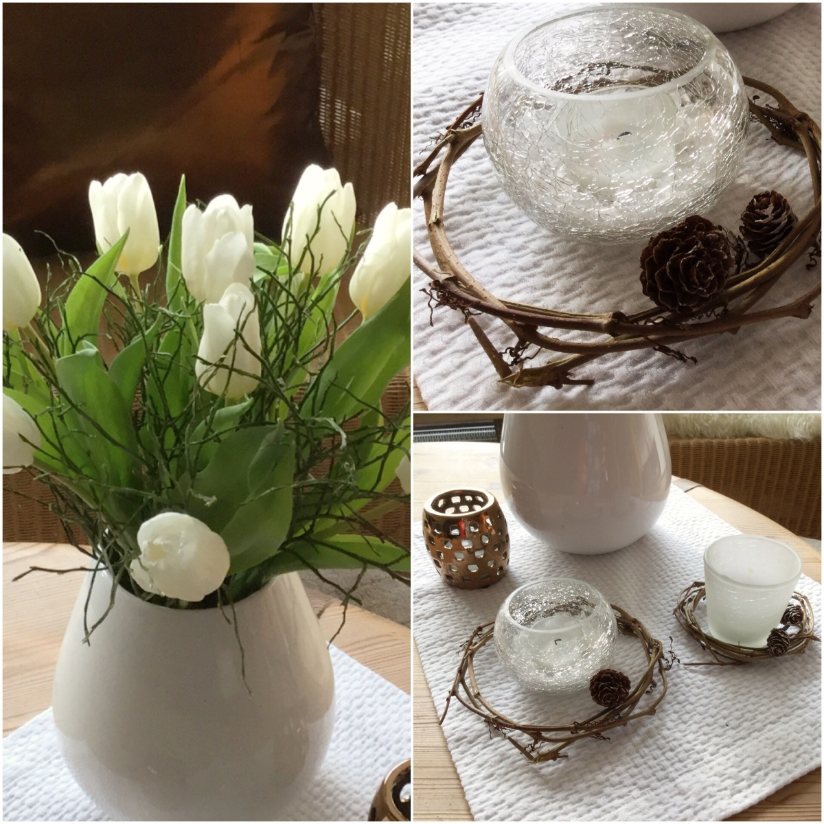 Friday-Flowerday - oder - Von Tulpen, Kerzen und Weidenkränzchen