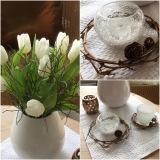 Friday-Flowerday – oder – Von Tulpen, Kerzen undWeidenkränzchen