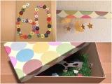 Geschenkgutschein und Karte: Bunt und witzig – oder – Eine Kiste vollerÜberraschungen