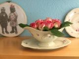 Freutag: Lilamalerie in der Brigitte – oder – Friday-Flowerday: Die ersten Freilandrosen