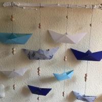 Meine Schiffchen schweben in der Luft - oder - Ein maritimes Mobile