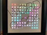 Lilamalerie und die kreative Uhrenbastelei – oder – Word-Clocks made by HerrL.