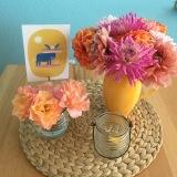 Friday-Flowerday – oder – Frisch aus dem Garten: Dahlien undRosen