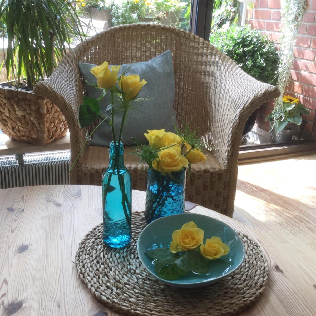 Friday-Flowerday - oder - Gelb & Türkis für's Summerfeeling