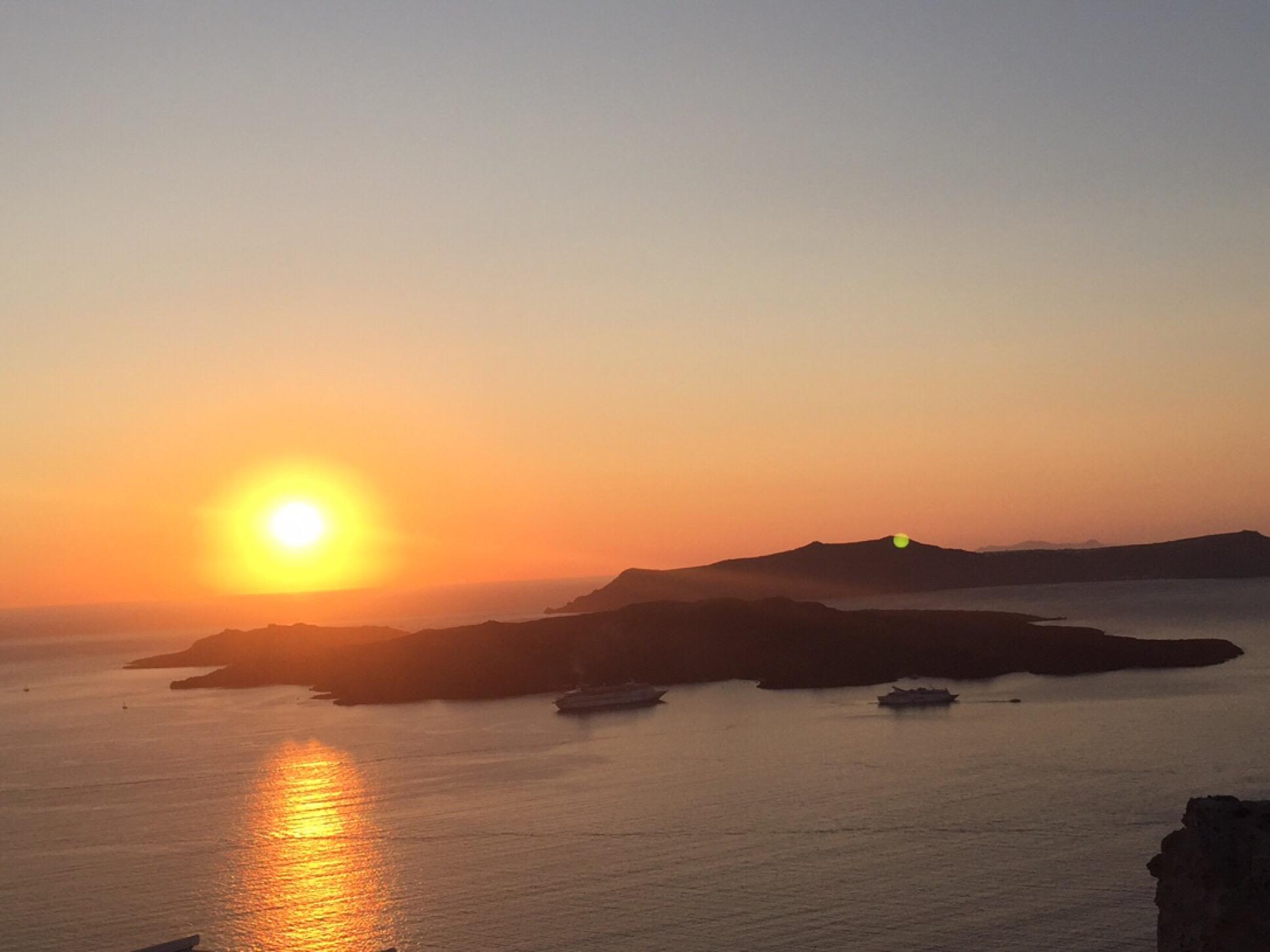 #Sonntagsglück – oder – Sommerglück auf Santorini