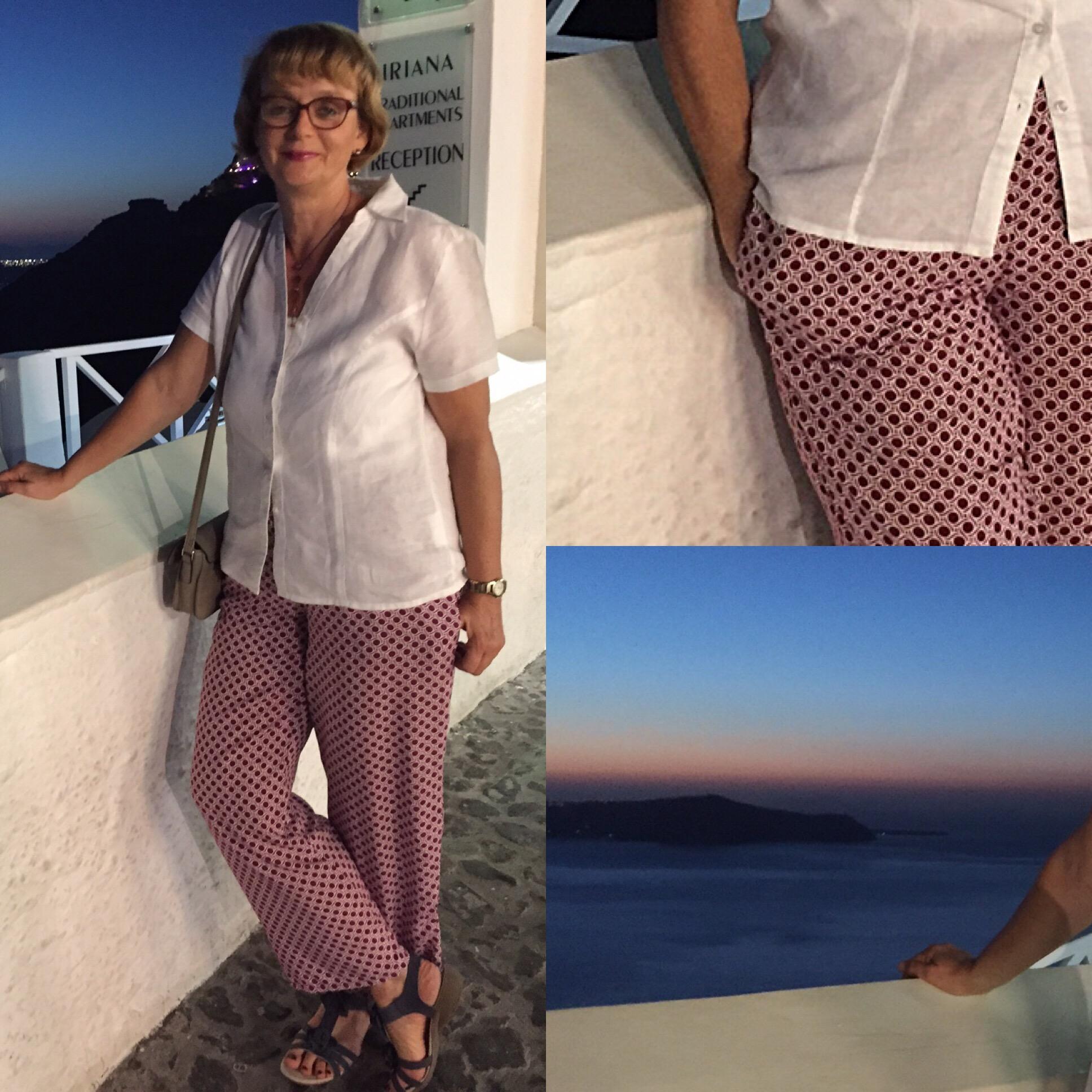 Eine Hose zur blauen Stunde – oder – Viskosehose mit Gummizug