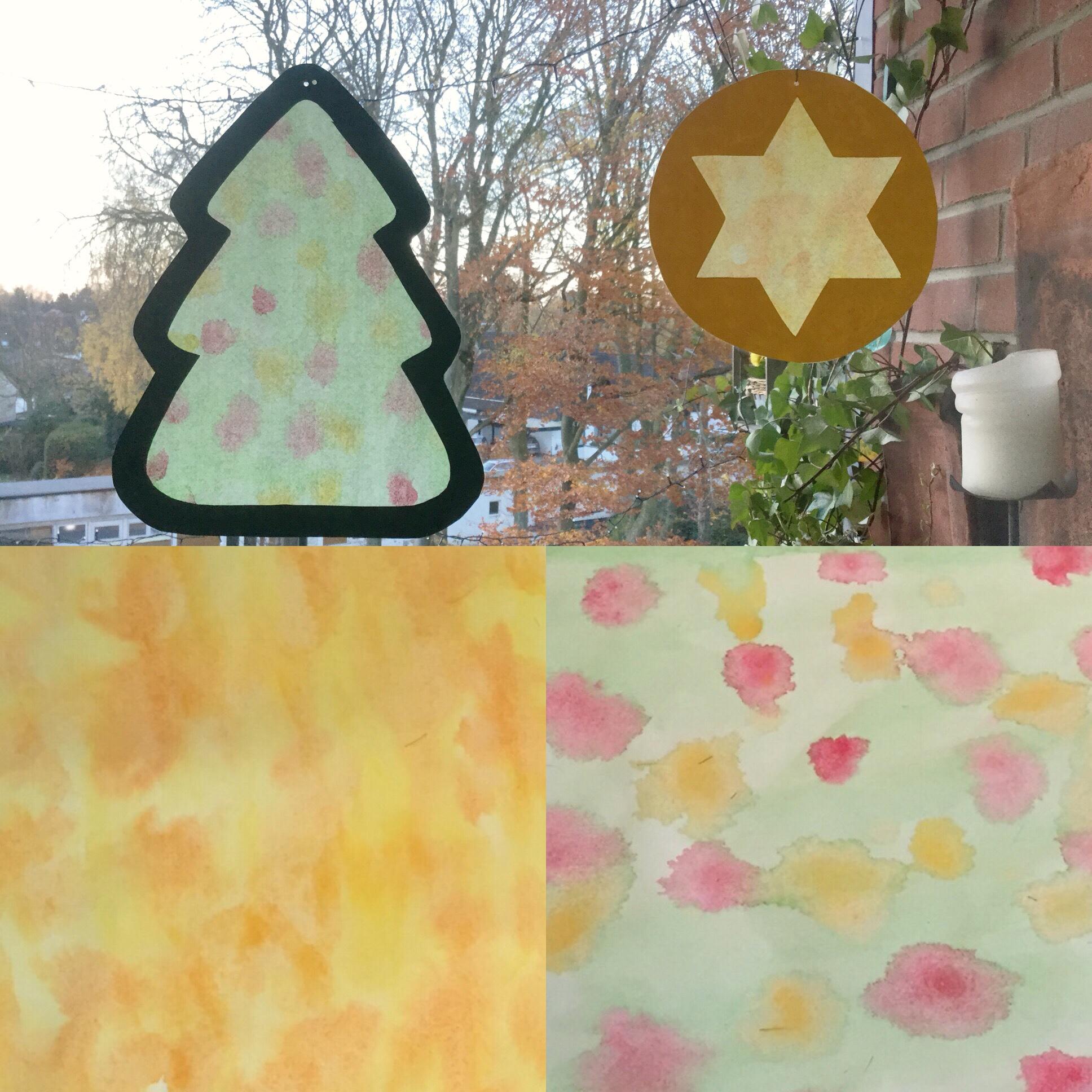 Weihnachtsbasteln Fensterbilder.Basteln Mit Den Kleinsten Oder Fensterbilder Für Die