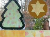 Basteln mit den Kleinsten – oder – Fensterbilder für die Weihnachtszeit: Tanne undStern