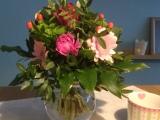 Friday-Flowerday – oder – Rosa und Grün verabschieden dieWeihnachtszeit