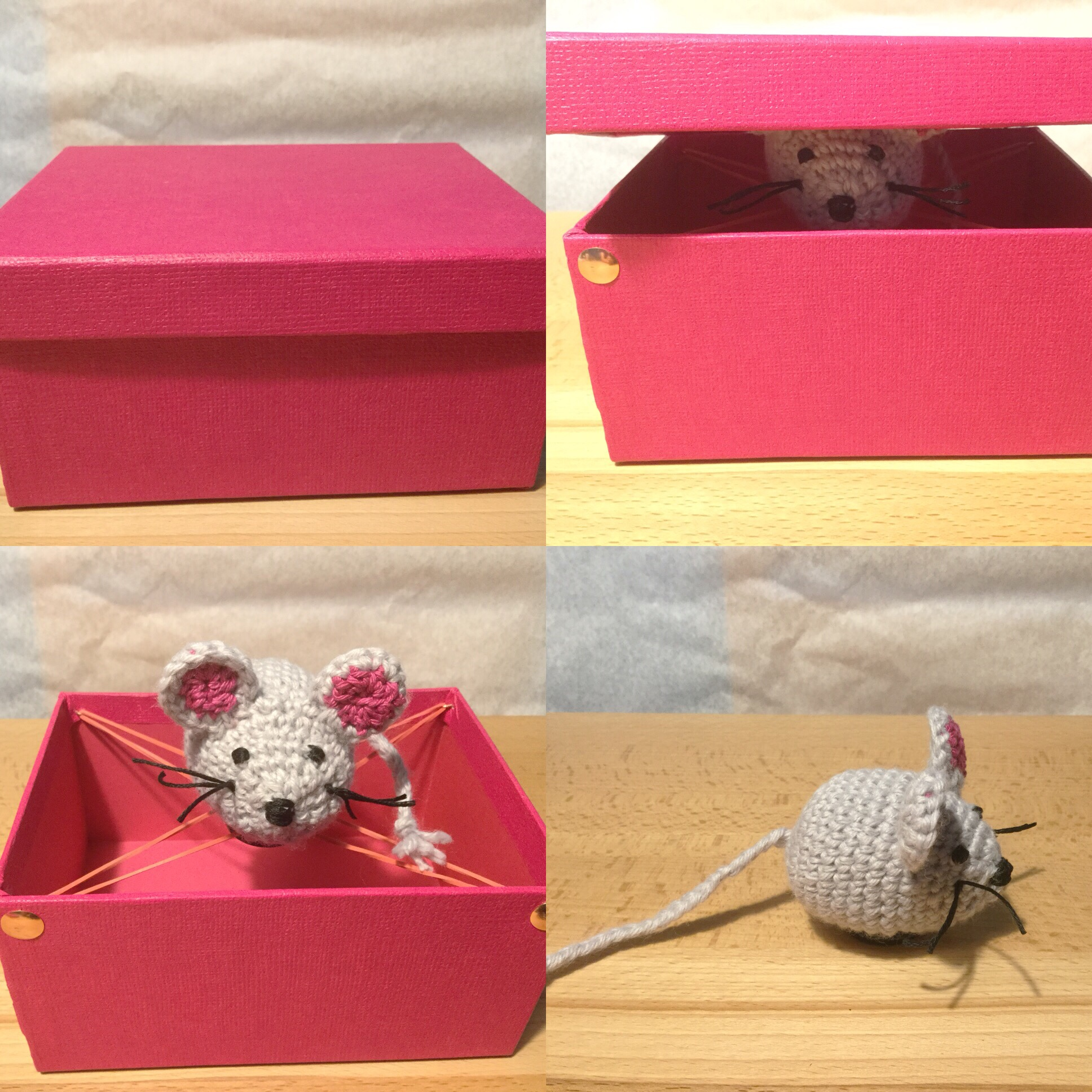 Von Häkel-Mäusen, die springen – oder – Von Geschenken, die Spaß machen