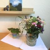 Friday-Flowerday – oder – Wiesenblumen vorWolkenkulisse