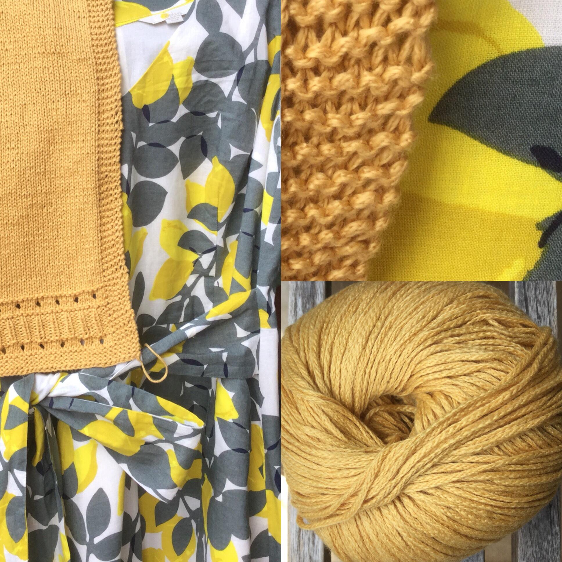 Wenn das Leben dir Zitronen schenkt, stricke dir eine Jacke dazu – oder – Leichte Strickjacke in the making