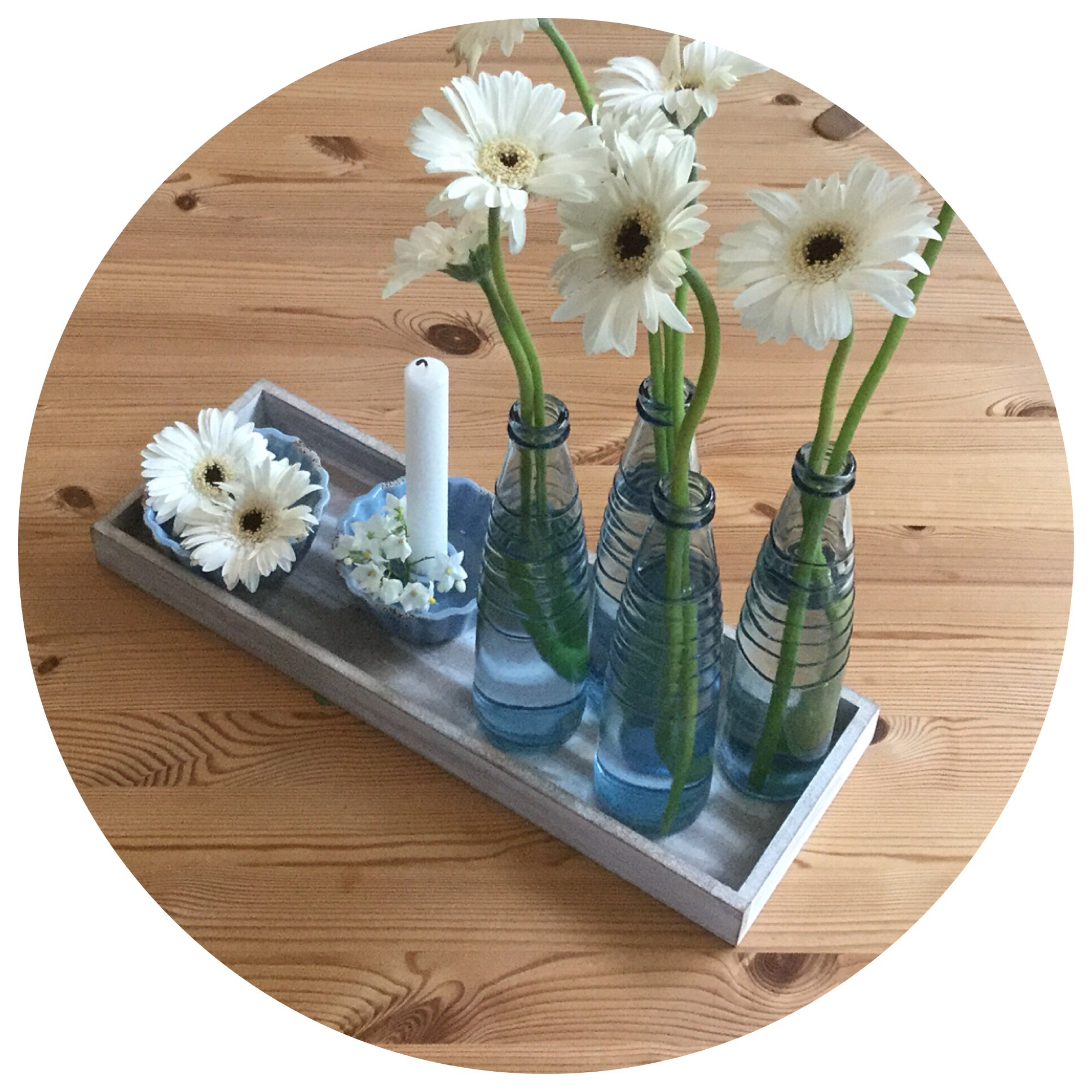 Friday-Flowerday – oder – Blau bleibt / Weiß kommt (dazu)