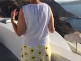 Von Sonnenblumen und einem schönen Rücken -oder- Genähter Rock und Strickhemdchen für die Sommerverlängerung