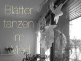 Blätter aus Buchseiten, gefaltet oder ausgeschnitten – oder – Blätter tanzen im Wind (einbisschen)