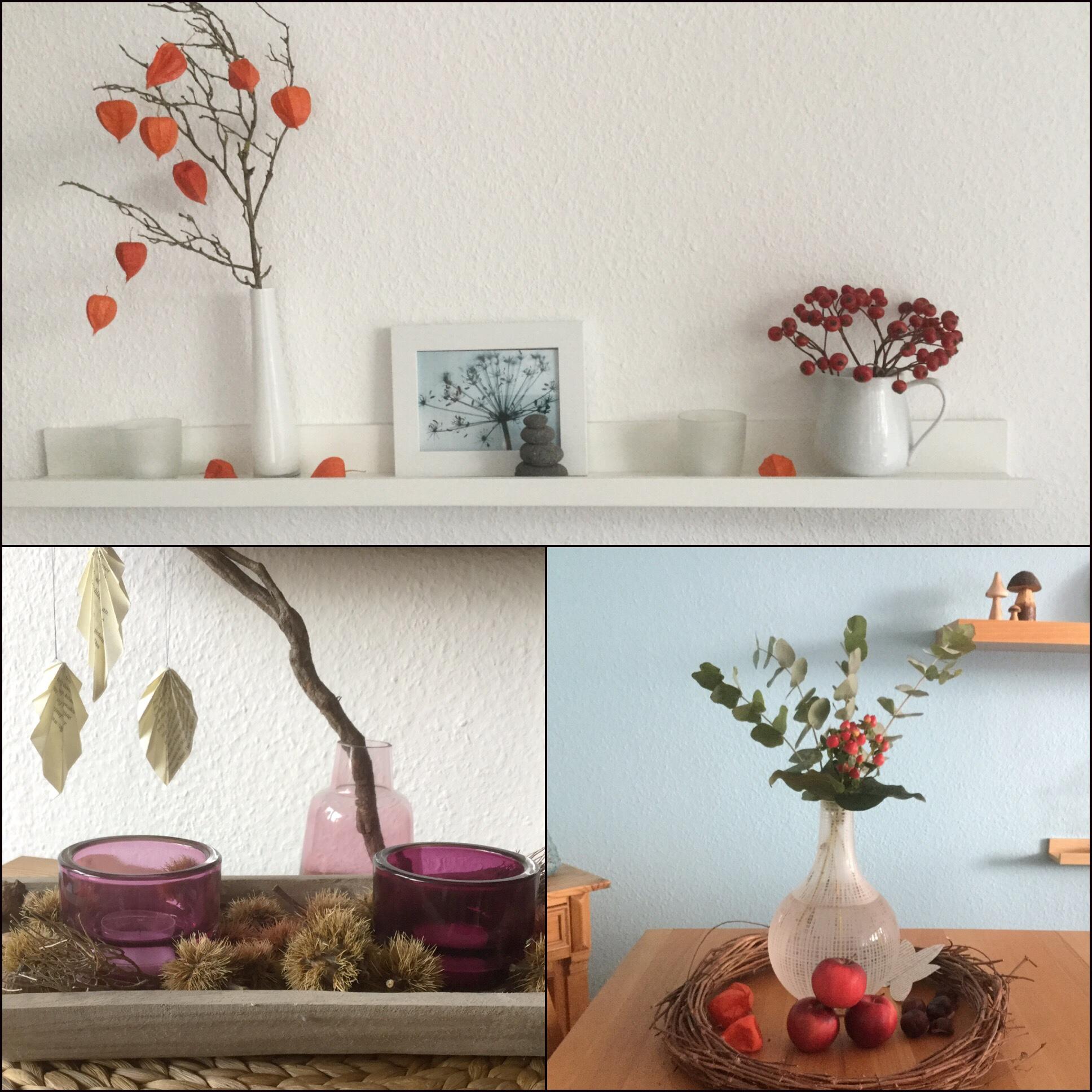 Friday-Flowerday – oder – Schlicht und einfach in Herbstfarben